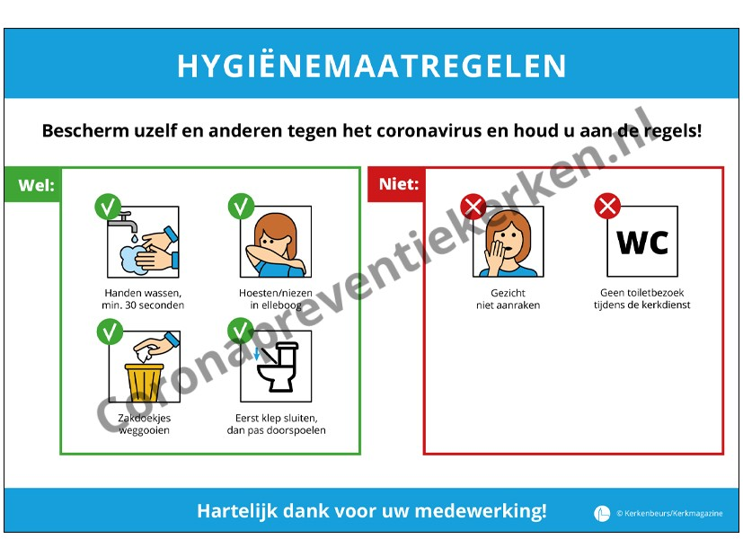 Sticker hygienevoorschriften